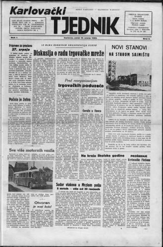 Karlovački tjednik: 1953 • 2