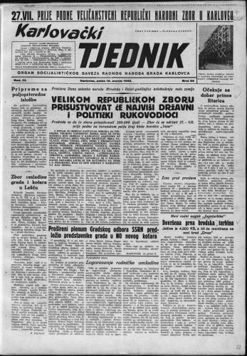 Karlovački tjednik: 1955 • 28