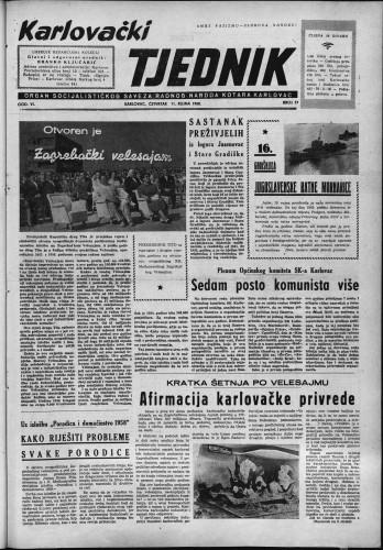 Karlovački tjednik: 1958 • 37
