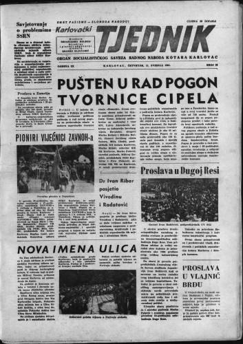 Karlovački tjednik: 1961 • 18