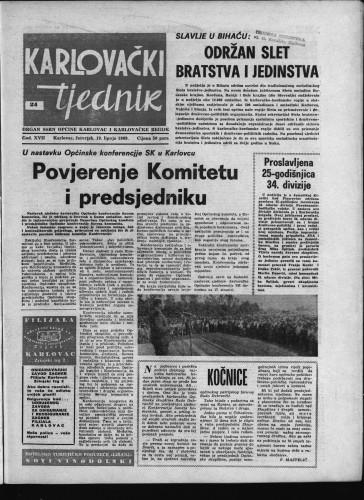 Karlovački tjednik: 1969 • 24
