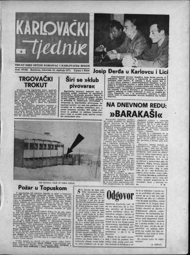 Karlovački tjednik: 1971 • 3