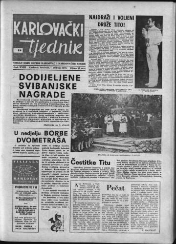 Karlovački tjednik: 1970 • 18