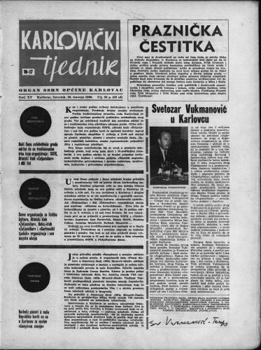 Karlovački tjednik: 1966 • 16