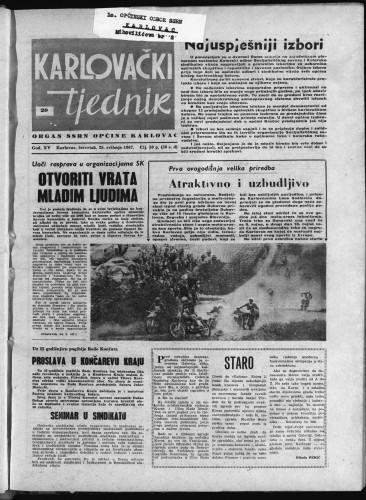 Karlovački tjednik: 1967 • 20