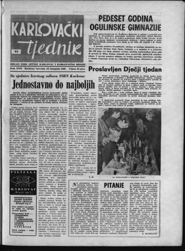 Karlovački tjednik: 1969 • 41