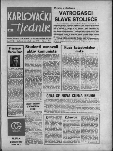 Karlovački tjednik: 1971 • 35