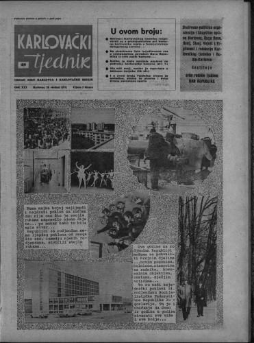 Karlovački tjednik: 1974 • 48