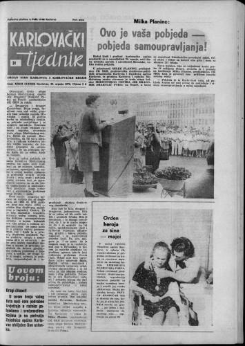 Karlovački tjednik: 1976 • 31