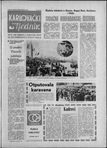 Karlovački tjednik: 1977 • 19