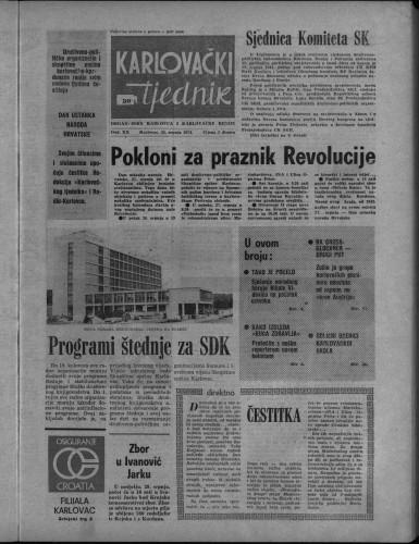 Karlovački tjednik: 1974 • 30
