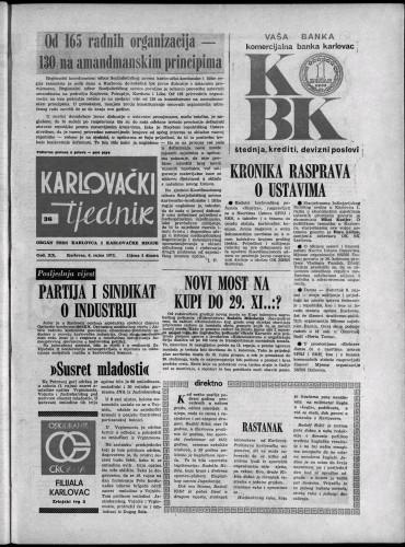 Karlovački tjednik: 1973 • 36