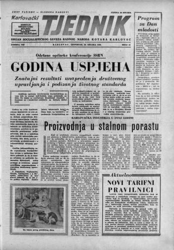 Karlovački tjednik: 1959 • 13