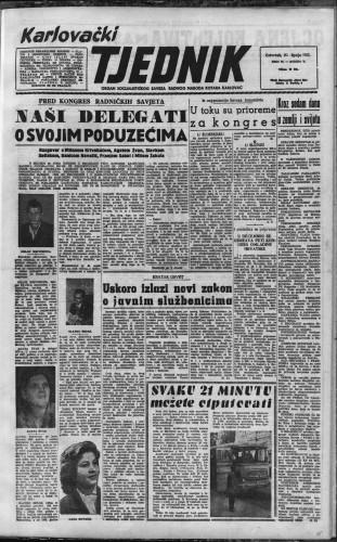 Karlovački tjednik: 1957 • 25