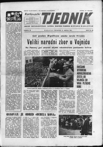 Karlovački tjednik: 1961 • 29