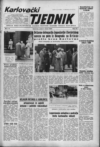 Karlovački tjednik: 1955 • 22