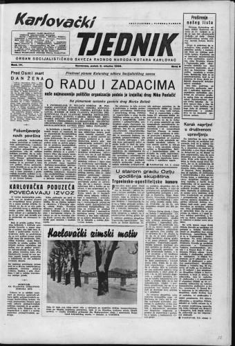 Karlovački tjednik: 1956 • 9