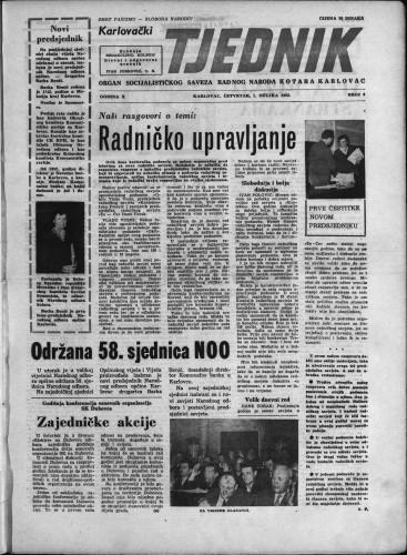 Karlovački tjednik: 1962 • 8