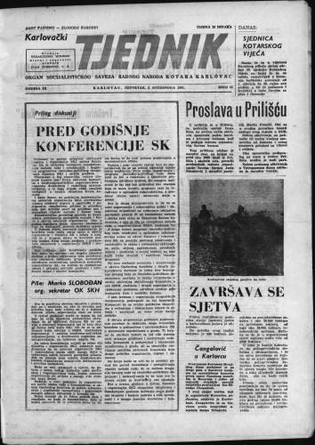 Karlovački tjednik: 1961 • 43