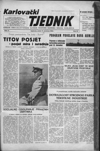 Karlovački tjednik: 1954 • 51