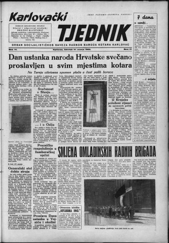 Karlovački tjednik: 1958 • 31