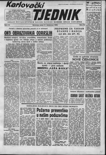 Karlovački tjednik: 1955 • 45