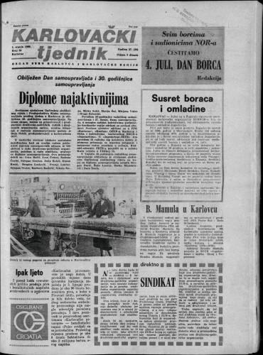 Karlovački tjednik: 1980 • 26