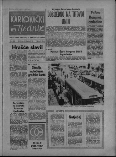 Karlovački tjednik: 1974 • 26