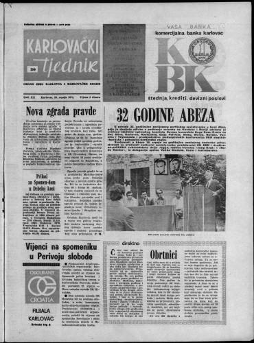 Karlovački tjednik: 1973 • 30