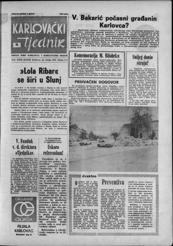 Karlovački tjednik: 1976 • 12