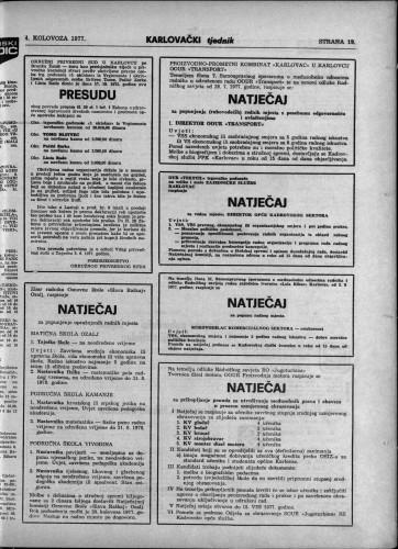 Karlovački tjednik: 1977 • 31