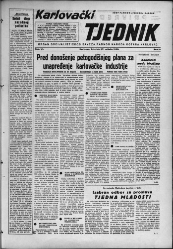 Karlovački tjednik: 1958 • 9
