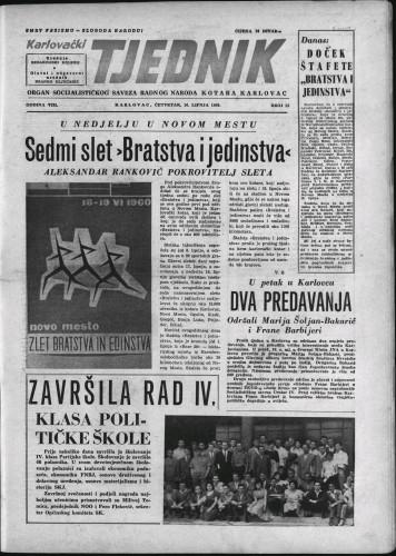 Karlovački tjednik: 1960 • 23