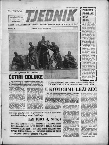 Karlovački tjednik: 1962 • 26