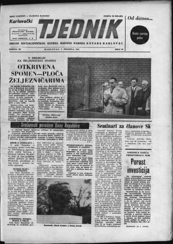 Karlovački tjednik: 1961 • 48