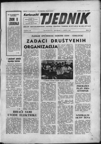 Karlovački tjednik: 1961 • 22