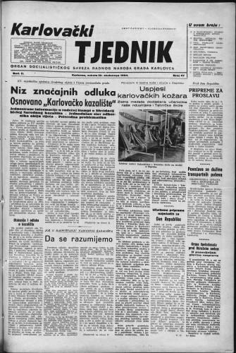 Karlovački tjednik: 1954 • 47