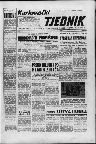 Karlovački tjednik: 1957 • 39