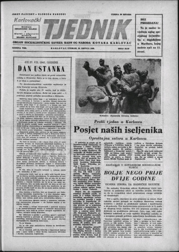 Karlovački tjednik: 1960 • 28