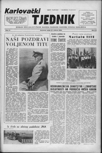 Karlovački tjednik: 1954 • 21