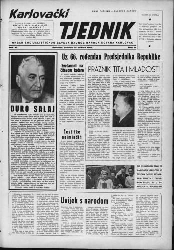 Karlovački tjednik: 1958 • 21