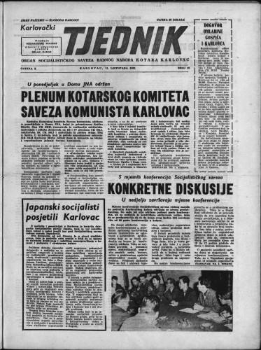 Karlovački tjednik: 1962 • 39