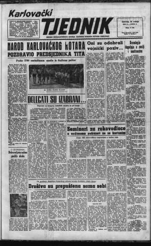 Karlovački tjednik: 1957 • 20