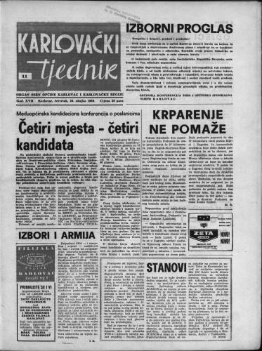 Karlovački tjednik: 1969 • 11
