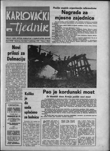 Karlovački tjednik: 1970 • 44