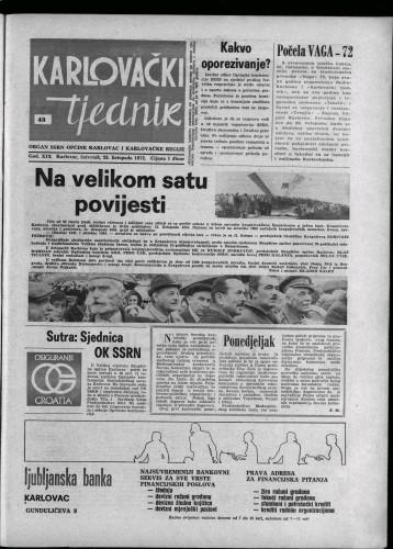 Karlovački tjednik: 1972 • 43