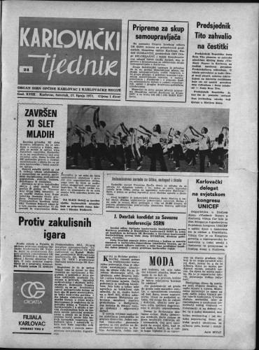 Karlovački tjednik: 1971 • 24