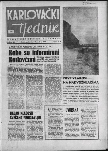 Karlovački tjednik: 1964 • 21