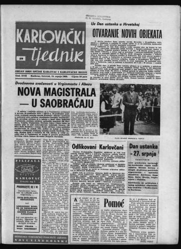 Karlovački tjednik: 1969 • 29