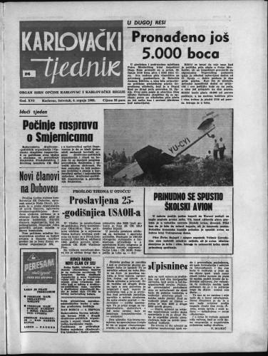 Karlovački tjednik: 1968 • 26